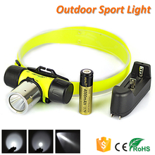 Super Bright LED Waterproof Headlamp Rechargeable Battery Underwater Diving Head Torch