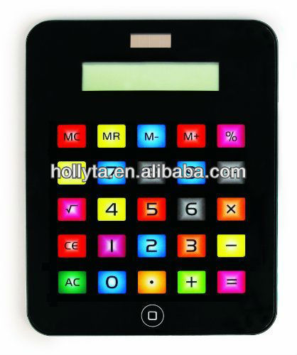 Fashionable Apple Tablet Shaped Solar Calculator with Touch Screen