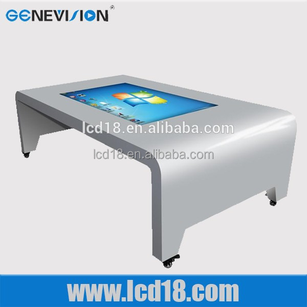 42 inch With advertising menu board digital modern lcd tv table design
