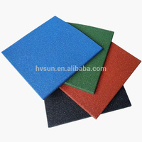Outdoor Indoor playground rubber tile / fitness rubber mat / crossfit gym rubber floor
