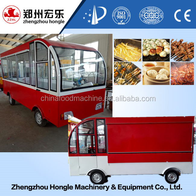 best selling electric mobile food truck and snack pizza vending cart