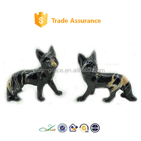 glazing marble fox resin table decoration animal home decoration