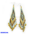tassels bugle bead earring pendant of mixture colour for fashion women accessory