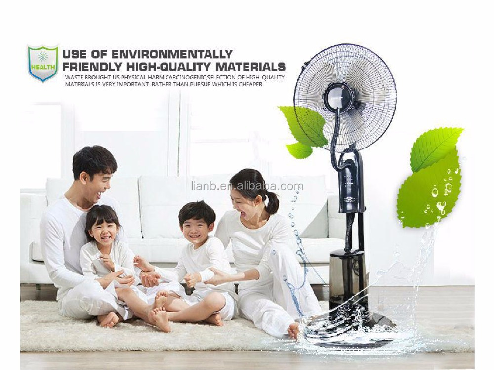 16 inch Spraying mist and electric cooling water air cooler mist fans for home use