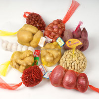 plastic fruit and vegetable mesh bag