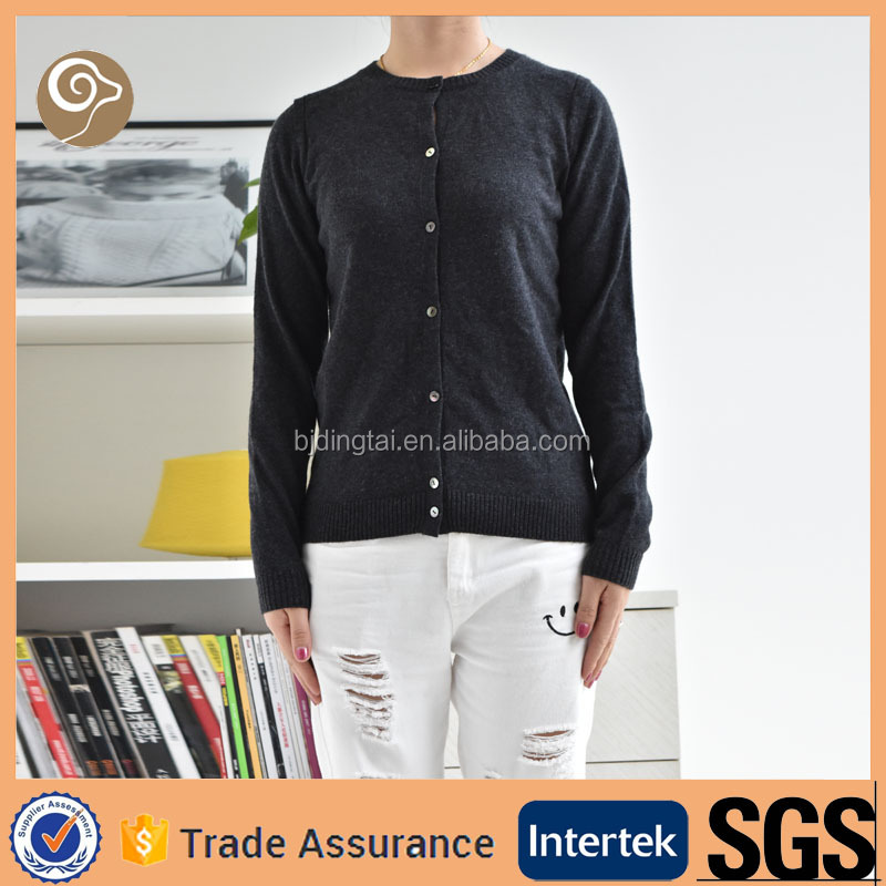 Crew neck cardigan wholesale cashmere sweater on sale