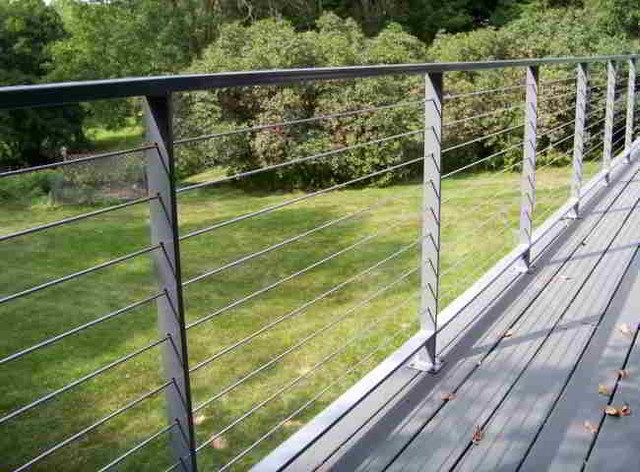 Handrail cable railing system