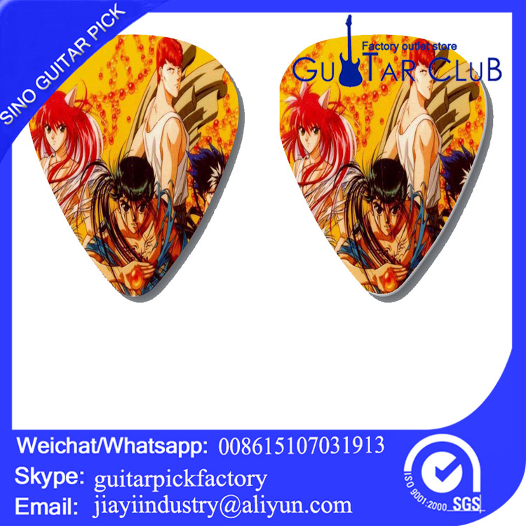 YuYu Hakusho blood anime custom celluloid nylon guitar picks seller