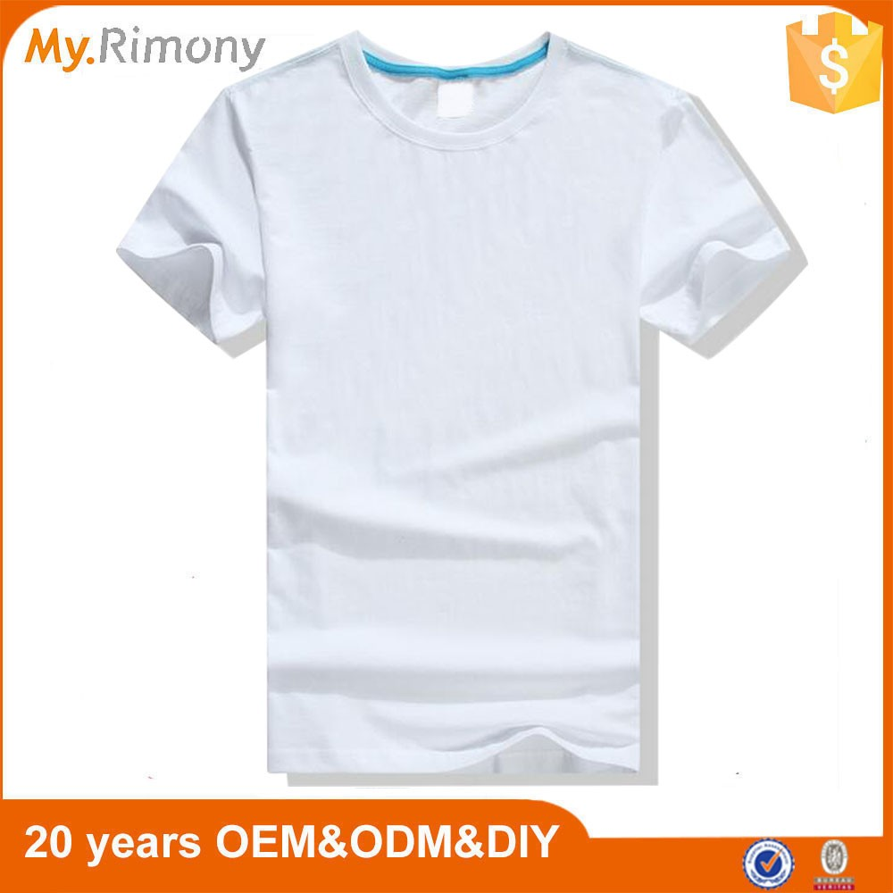 Wholesale cheap blank white t shirt design for men buy t for Where can i buy t shirts in bulk for cheap