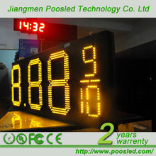 low price led digital clock display \ number price billboard board \ price electronic billboard signage