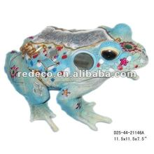 Resin garden frog with mosaic