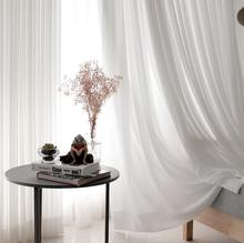 100% polyester modern design window chiffon curtain