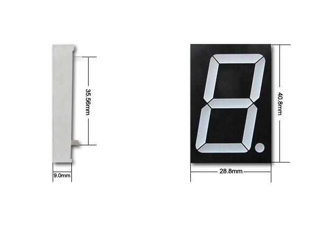 12011-BB common anode 1.2 inch blue 7 Segment led digital display