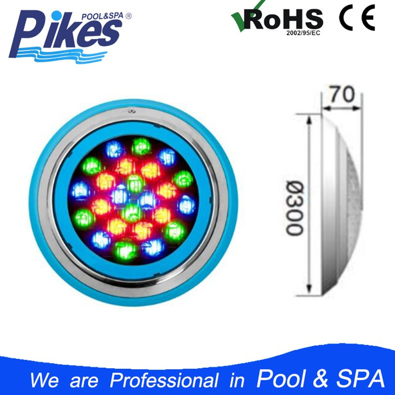 IP68 Stainless steel plastic underwater 12v par56 RGB LED Pool light for swimming pool