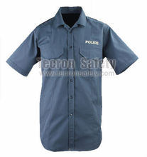 Tecron Safety Flame Resistant Antistatic Modacrylic Blend Cotton Shirt /Summer Police Shirt / Grey Shirt / EN11612 EN1149