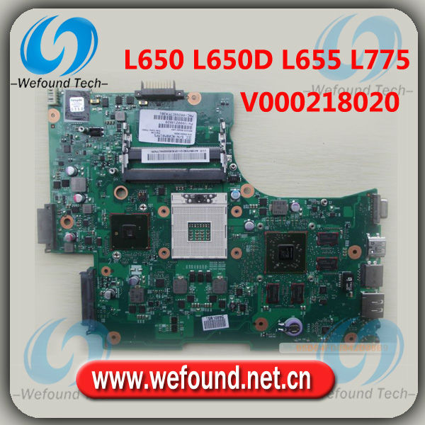 for TOSHIBA L650 L650D L655 L775 DDR3 V000218020 non-integrated motherboard mainboard systemboard