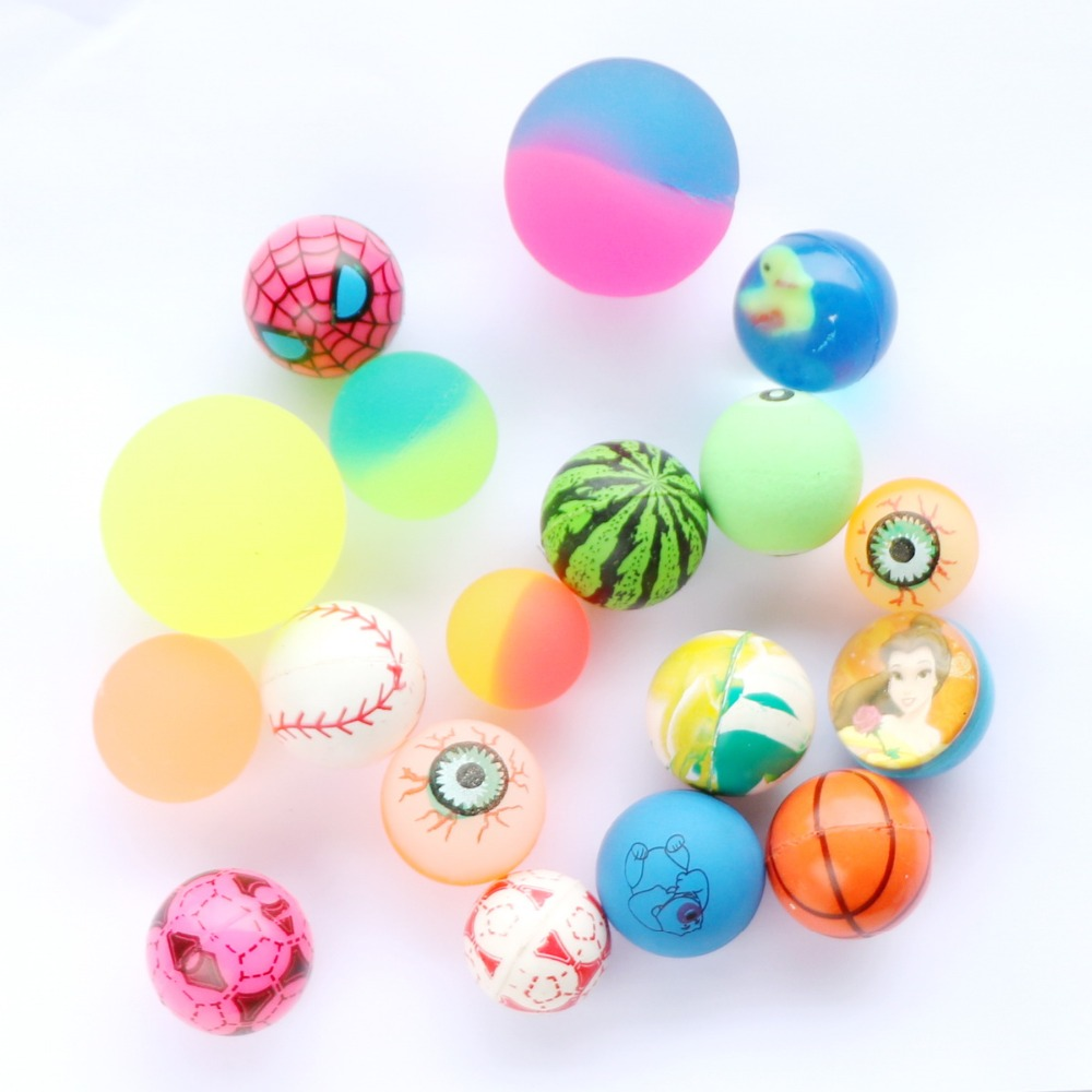 Bouncy ball glow in the dark mix solid rubber ball Eyes crystal bouncing ball vending machine
