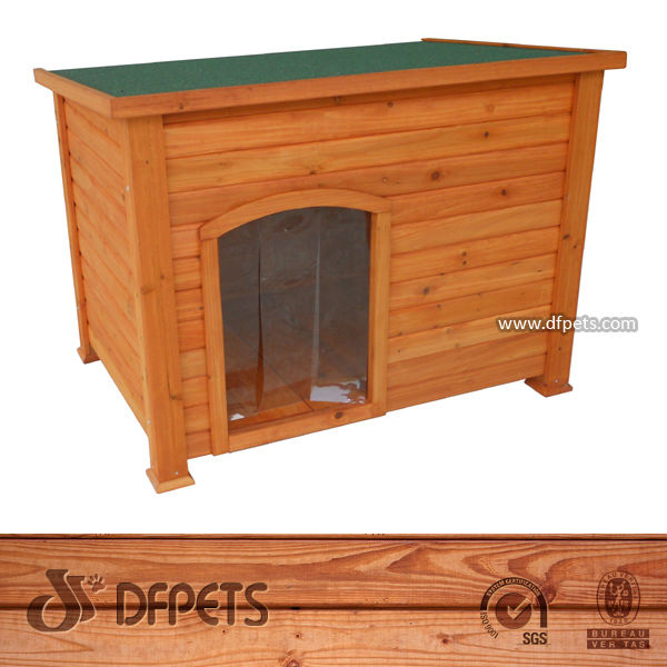 Natural Wooden Bitumen Dog House DFD025