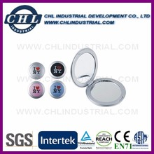 Promotional logo printed plastic pocket mirror