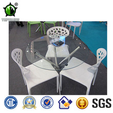 High quality clear white plastic chairs