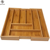 High quality custom logo wholesale bamboo wooden home decorative food storage box ,2017 bamboo cutlery tray