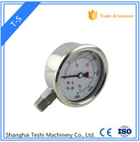 Y-100 all stainless steel bourdon tube pressure gauge with alarm
