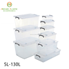 Top Quality Orange Lid Widely Use Transparent plastic box