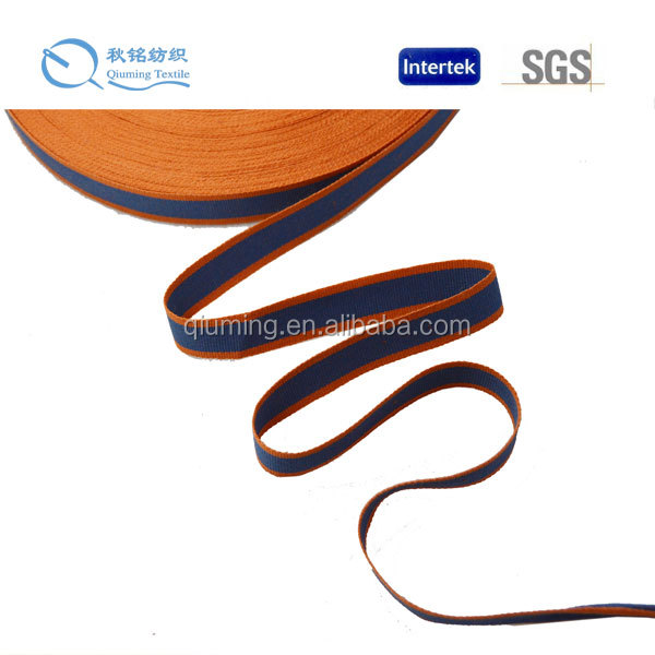 2014 New design high quality fashion garment use orange and wash navy tape