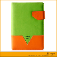 Pu leather high quality cover style diary and notebook