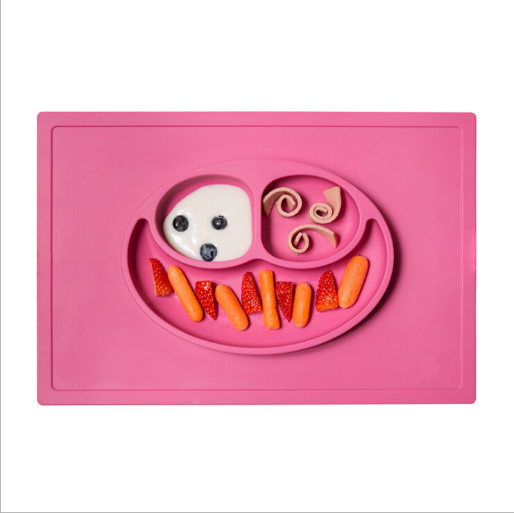 silicone suction placemat kids table food mat