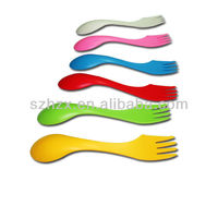Reusable Small Plastic Spork For Camping