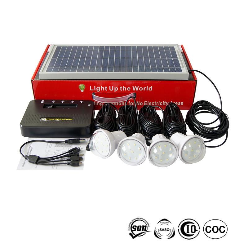 Home solar system for home lighting wall mounting 8w solar cell 7.4V 5200mAh Lithium