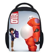 (Hot Sale) Factory Direct Sale Baymax Canvas Backpack Kids Cartoon Backpack Big Hero 6 School Bags