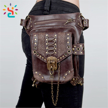 Fashion gothic Leisure waist bag Men leg pouch hip bags running sport Crossbody waist bags