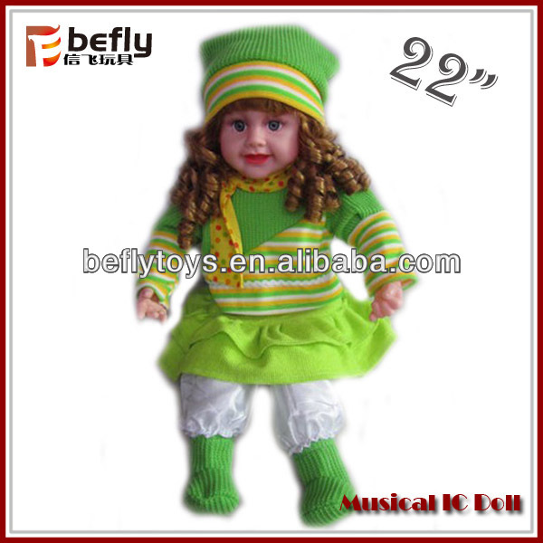 22 inch singing doll toys for baby