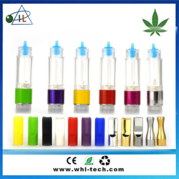 Green refillable e cigarette atomizer brands 0.5ml 0.8ml slim vaporizer vapor cartridge from china manufacture cbd oil atomizer