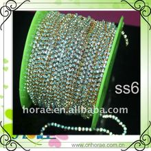 rhinestone cup chain for garment accessories