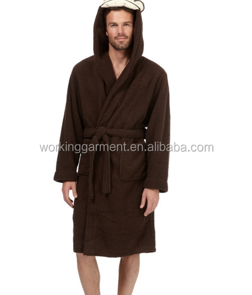 Cute Adult Monkey Dressing Gown Cheap Men\'s Funny Flannel Robe - Buy ...