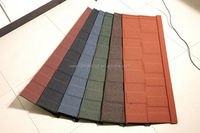 constructional material / color stone coated steel roof tile / not asphalt shingle tile