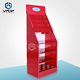 Recycled Floor Standing Display Units Red Stylish Cardboard Book Display Stand