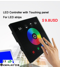 hot sales DC12-24v 16A RGBW led controller with touch panel