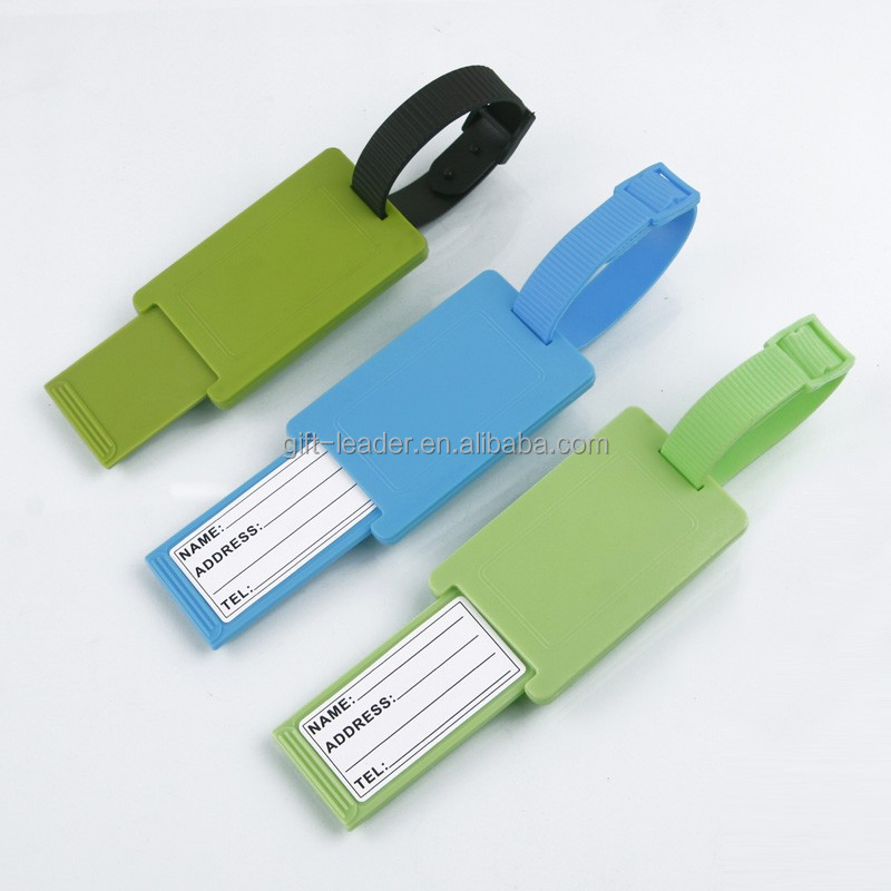 Eco-friendly Square shape bag hanger hard plastic luggage tag