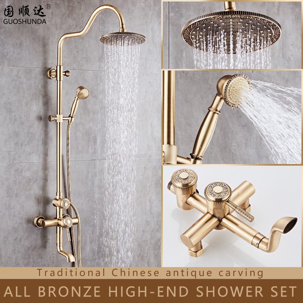 list of gold shower head set