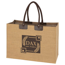 Padded Handle Jumbo Jute Tote Bag