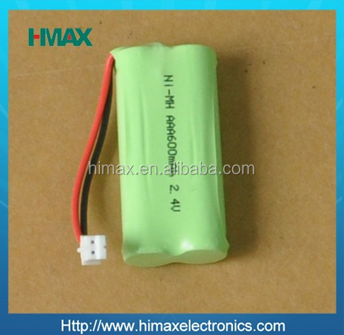 2.4v rechargeable battery/ni mh AAA rechargeable 600mah/ni-mh 2.4v battery pack