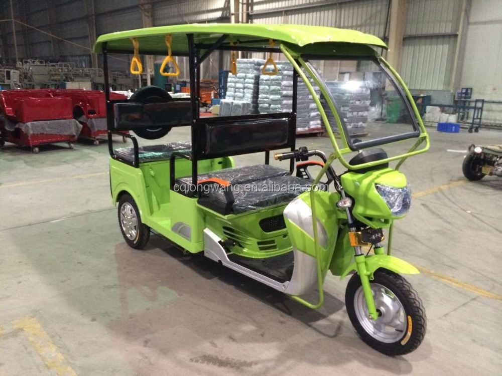 Hot sale 1000W electric double seat three wheeler/tuk tuk/rickshaw/tricycle for 6 passengers