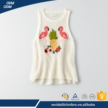 Guangzhou Meidaili Garment OEM Wholesale Custom Summer 95% Cotton 5% Spandex Ladies Sexy Printing Womens Tank Top