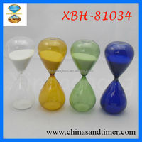 Small 5 Minute Beautiful Colored Glass Pieces for Crafts Sand Timer