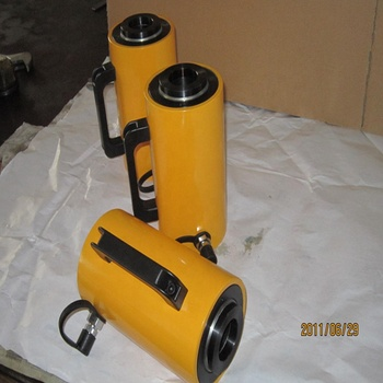 Double ended adjustable hydraulic cylinder for hydraulic press