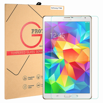 For Samsung Galaxy Tab S8.4 T700 Tempered Glass Screen Protector 9H 0.26 MM Rounded Edge Bubble Free Anti Dust Anti-scratch